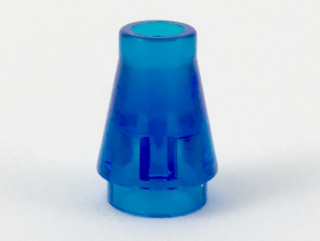 LEGO 4589 Trans-Dark Blue Cone 1 x 1 without Top Groove
