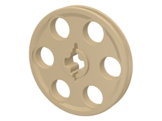 LEGO 4185 Tan Technic Wedge Belt Wheel (Pulley)