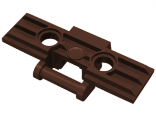 LEGO 57518 Dark Brown Technic, Link Tread Wide with Two Pin Holes