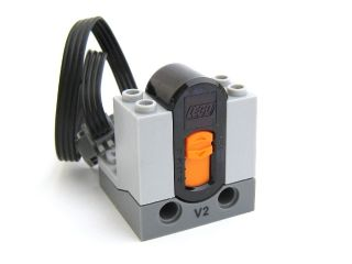 LEGO 58123bc01 Electric, Power Functions Receiver Unit with Dark Bluish Gray Bottom and Black V2 Print (Version 2)