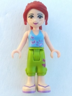 LEGO frnd016 Friends Mia, Lime Cropped Trousers, Medium Blue Top