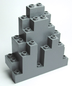 LEGO 6083 Dark Bluish Gray Rock Panel 3 x 8 x 7 Triangular