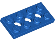 LEGO 3709b Blue Technic, Plate 2 x 4 with 3 Holes