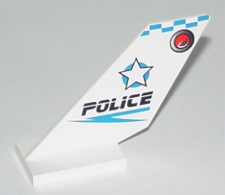 LEGO 6239px1 Tail Shuttle with Police Blue Checkered Pattern