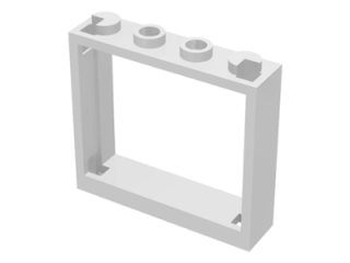 LEGO 60594 White Window 1 x 4 x 3 - No Shutter Tabs