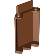 LEGO 87421 Reddish Brown Panel 3 x 3 x 6 Corner Wall without Bottom Indentations