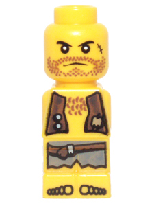 LEGO 85863pb020 Microfigure Pirate Plank Pirate Yellow