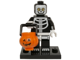 LEGO col14-11 Skeleton Guy, Series 14 (Complete Set with Stand and Accessories)