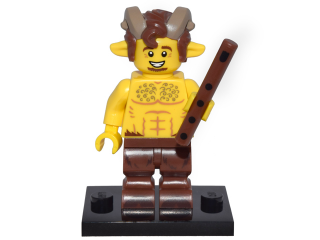 LEGO col15-7 Faun, Series 15 (Complete Set with Stand and Accessories)
