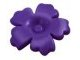 LEGO 93080h  Dark Purple Friends Accessories Hair Decoration, Flower with Serrated Petals and Pin