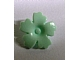 LEGO 93080h Light Aqua Friends Accessories Hair Decoration, Flower with Serrated Petals and Pin