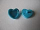 LEGO 93080e Medium Azure Friends Accessories Hair Decoration, Heart with Pin