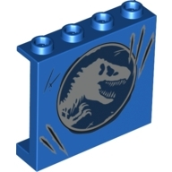 LEGO 60581pb098 Panel 1 x 4 x 3 with Side Supports - Hollow Studs with Jurassic World Dino Pattern