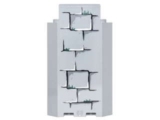 LEGO 87421pb013 Panel 3 x 3 x 6 Corner Wall without Bottom Indentations with Bricks with Dark Green Moss Pattern 1