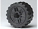 LEGO 55981c01 Black Wheel 18mm D. x 14mm with Pin Hole, Fake Bolts and Shallow Spokes with Black Tire 24 x 14 Shallow Tread