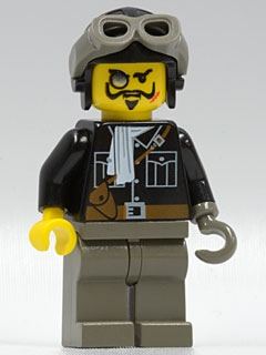 LEGO adv036 Lord Sam Sinister with Aviator Cap and Goggles