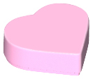 LEGO 39739 Bright Pink Tile, Round 1 x 1 Heart