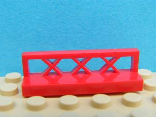 LEGO 3633 - Red Fence 1 x 4 x 1
