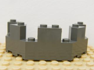 LEGO 6066 - Dark Gray Castle Turret Top 4 x 8 x 2 1/3