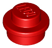 LEGO 4073 - Red Plate, Round 1 x 1 Straight Side