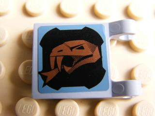 LEGO 2335pb059L - LegoFlag 2 x 2 Square with Copper Snake