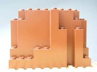 LEGO 6082 Reddish Brown Rock Panel 4 x 10 x 6 Rectangular