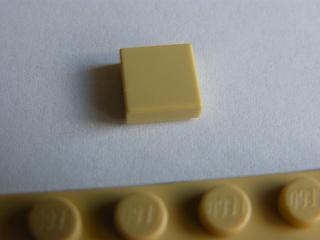 LEGO 3070b Tan Tile 1 x 1 with Groove