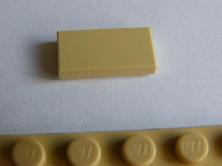LEGO 3069 Tan Tile 1 x 2 with Groove