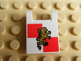 LEGO 2335pb063 - Flag 2 x 2 Square with Gold Lion