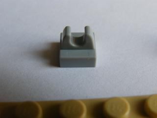 LEGO 2555 - Light Bluish Gray Tile, Modified 1 x 1 with Clip