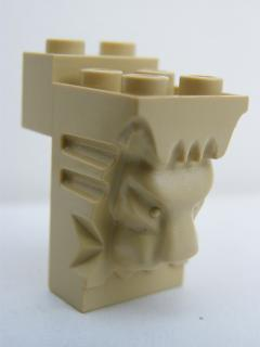 LEGO 30274 Tan Brick, Modified 2 x 3 x 3 with Cutout and Lion Head