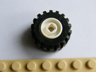 LEGO 6014bc05 Wheel 11mm D. x 12mm, Hole Notched for Wheels Holder Pin with Black