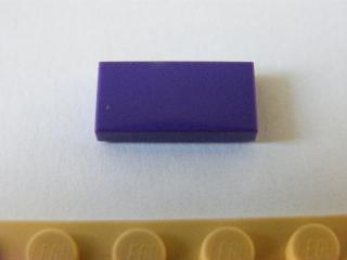 LEGO 3069b  - Dark Purple Tile 1 x 2 with Groove