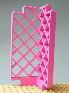 LEGO 30016 - Dark Pink Belville Wall, Lattice 6 x 6 x 12 Corner