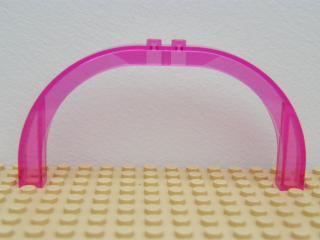 LEGO 6184 - Trans-Dark Pink Brick, Arch 1 x 12 x 5 Curved Top