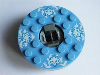 LEGO bb493c03pb01 - Turntable 6 x 6 Round Base with Medium Blue Top