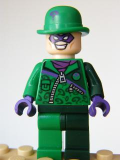 LEGO Super Heroes 088 -  The Riddler Green and Dark Green Zipper Outfit