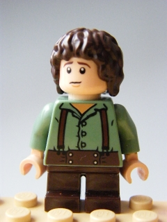 LEGO Hobbit and Lord of the Rings - Frodo Baggins - Sand Green Shirt