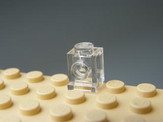 LEGO 4070 Trans-Clear Brick, Modified 1 x 1 with Headlight