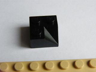 LEGO 3046a Black Slope 45 2 x 2 Double Concave