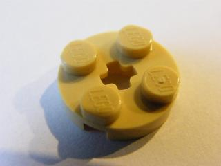 LEGO 4032 - Tan Plate, Round 2 x 2 with Axle Hole