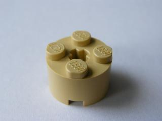 LEGO 3941 - Tan Brick, Round 2 x 2 with Axle Hole