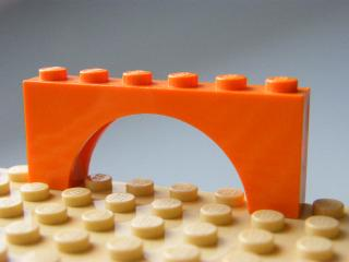 LEGO 3307 - Orange Brick, Arch 1 x 6 x 2