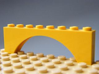 LEGO 3308 - Yellow Brick, Arch 1 x 8 x 2