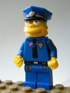 The Simpsons  - Chief Wiggum with Doughnut Frosting