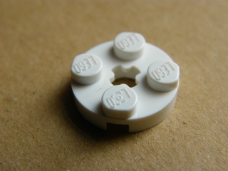 LEGO 4032 - White Plate, Round 2 x 2 with Axle Hole