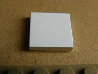 LEGO 3068b - White Tile 2 x 2 with Groove