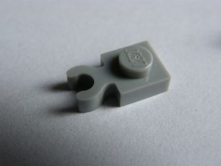 LEGO 4085b - Light Bluish Gray Plate, Modified 1 x 1 with Clip Vertical