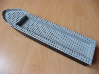 LEGO 54100c01 - Boat Hull Unitary 51 x 12 x 6 with Light Bluish Gray Top