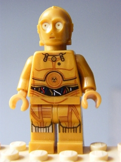 LEGO STAR WARS 700 - C-3PO - Colorful Wires, Decorated Legs